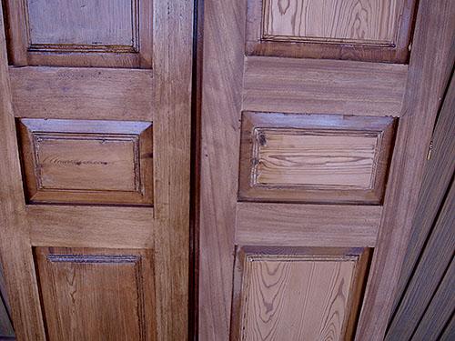 Contraventana madera de Iroko y pino