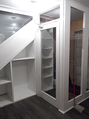 Mueble Escalera Lacado blanco