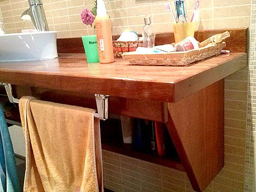 Mueble Baño madera de Iroko